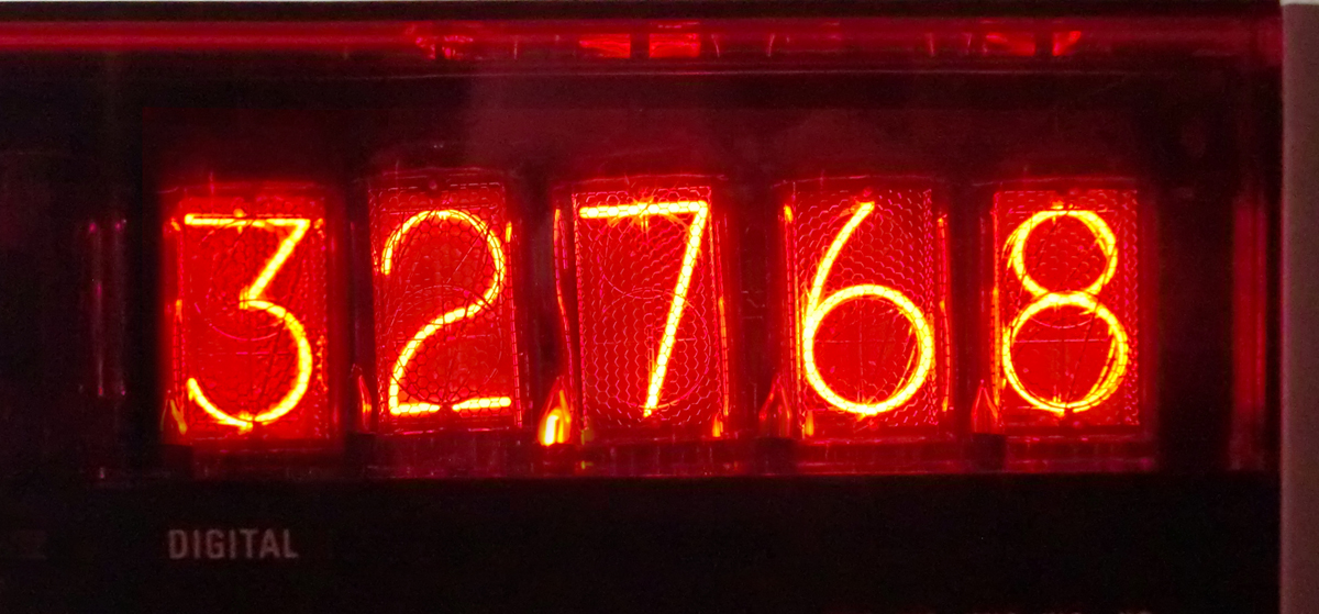 The correct measurement result at check points...32768 Hz.