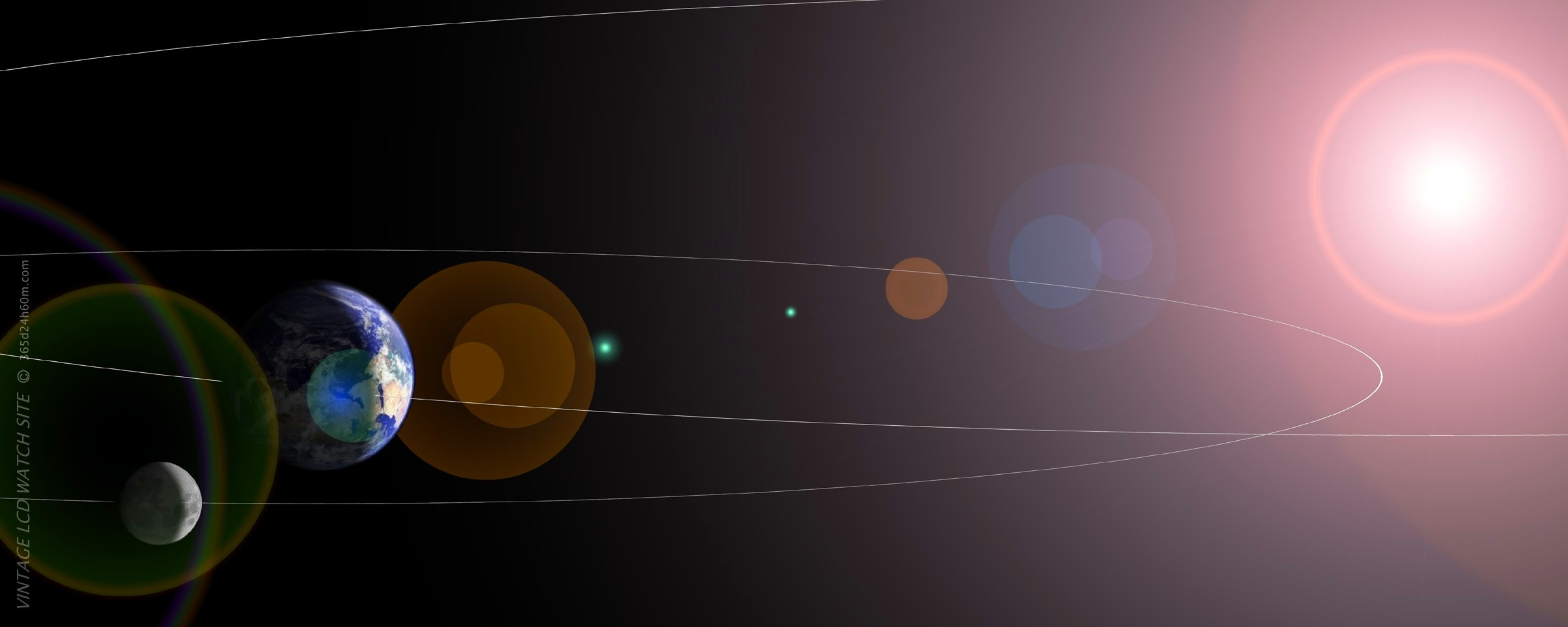 Click to enlarge ? Our Solar System ( 2400 x 960px )